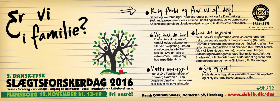 Flensborg: Slægtsforskerdag 2016